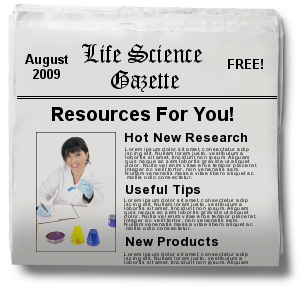 Life Science Company Newsletter