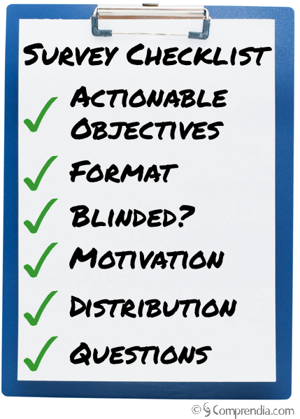 Market Research Survey Checklist Clipboard