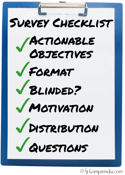Market Research Survey Checklist Clipboard